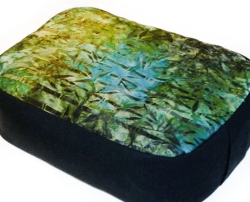 ***PRE-ORDER NOW! EXPECTED ARRIVAL: WEEK APRIL 13TH.  ***Organic buckwheat hull filled mediation/yoga pillow. Velcro closure under the convenient carrying handle to allow for washing exterior fabric. Cotton batiks. Patterns Vary. Handmade in USA