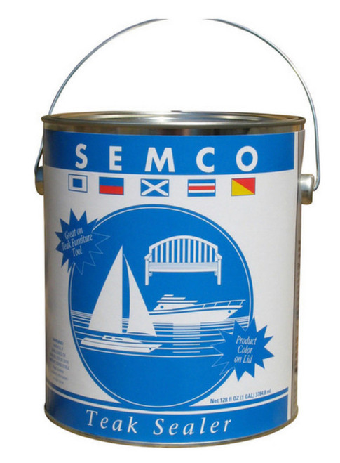 THE BEST! Semco Teak Sealer. Gallon size. Long lasting natural looking protection.  Lasts through the season and can be renewed without deep cleaning or stripping for years!  Repels water without being slippery.  Relieves the drudgery of constant teak maintenance.  Known the world over as the best protection for teak. PICKUP ONLY ITEM.