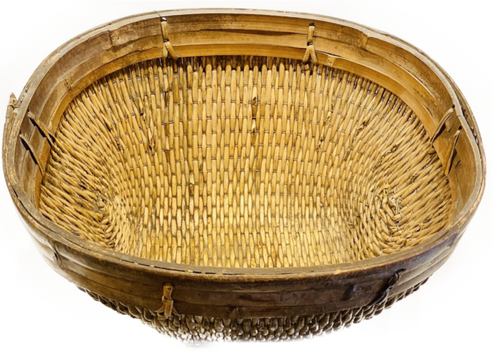 Vintage woven open Chinese Basket. Great for fireplace kindling, magazines or even house plants! PICKUP ONLY ITEM.
