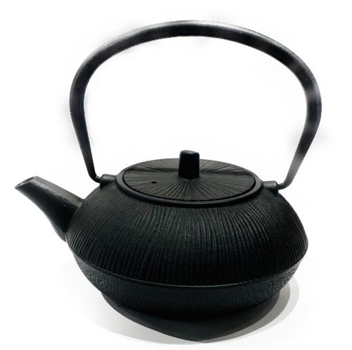 Specially purified cast iron tea pot (Kyusu). Interior is coated in enamel to prevent development of rust. Intended for brewing and serving tea only. Includes metal strainer. Extremely durable and will last for generations.