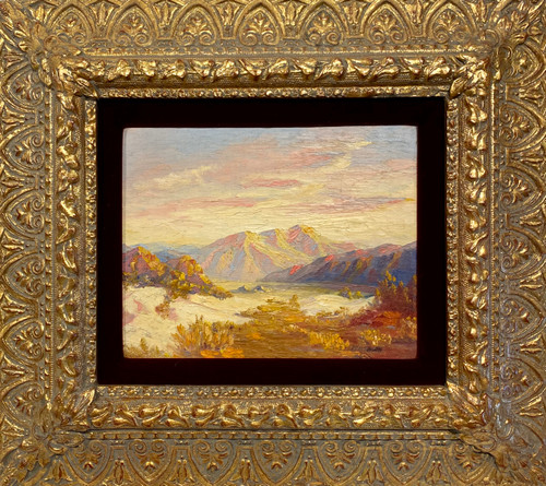 Vintage framed oil painting. Signed: Phil Eaton. Frame is restored pre-1920. PICKUP ONLY ITEM.