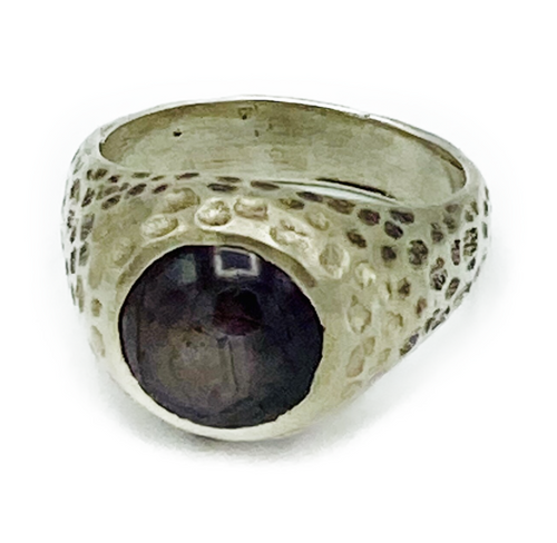 Handmade sterling silver ring with Star Ruby setting. Size 7 (additional sizes available upon request). Handmade in Los Angeles. Ruby: Stone of nobility. Talisman of passion, protection and prosperity. Symbolizes the Sun.