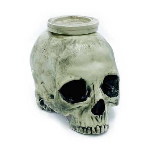 Beautifully handmade English porcelain skull, candle holder. Crafted by clay artist, Chase Brown. Food safe. Candle NOT Included. Made in Philadelphia, PA