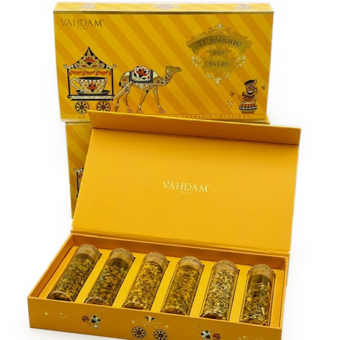 100% Pure loose tea. Vahdam quality individually and uniquely packaged in glass tubes with corks.