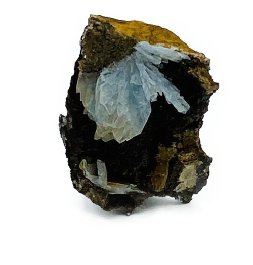 Extremely rare, high quality. Blue Barite in matrix .15kg approximate. Blue Barite: Magical crystal useful in assisting with memory, coincidence and to establish a stronger connection with the Divine.  Note: Additional specimens are also available in the physical boutique and can be seen upon inquiry. Please call the boutique for assistance.