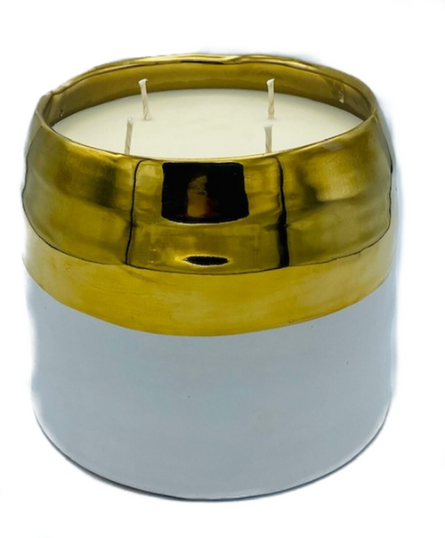 "Spectacular 1,000 hour, 100oz, premium essential oil fragrance soy wax. Actual candle size an impressive 6.5x7""! Made in USA. Due to this items size and delicate nature, it is a PICKUP ONLY ITEM.  Upon request, special accommodations can be made to have this item shipped or hand delivered for an additional fee."