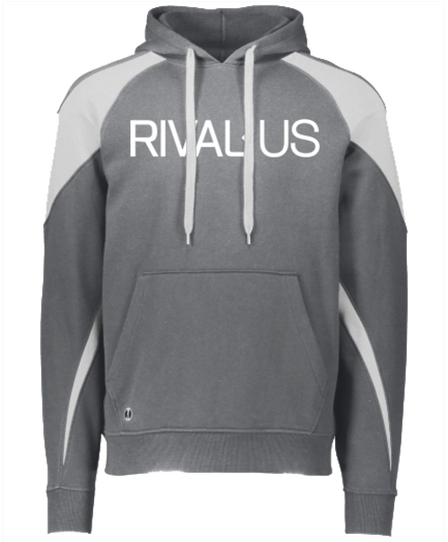 Rivalus Grey/White Hooded Sweatshirt