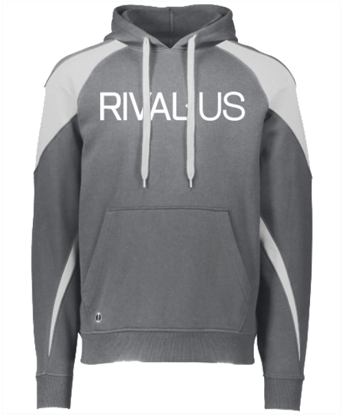 Rivalus Grey/White Hooded Sweatshirt