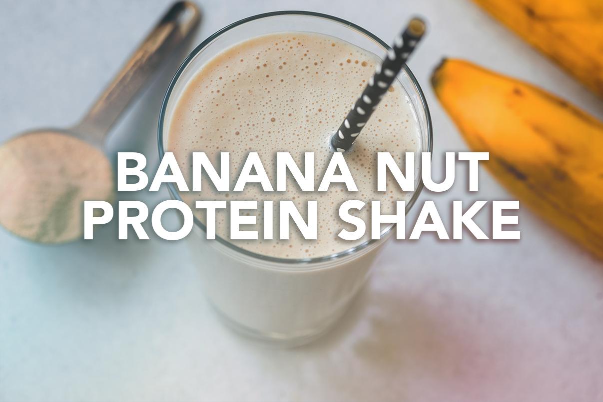 Rivalus At Home Recipes: Banana Nut Protein Shake