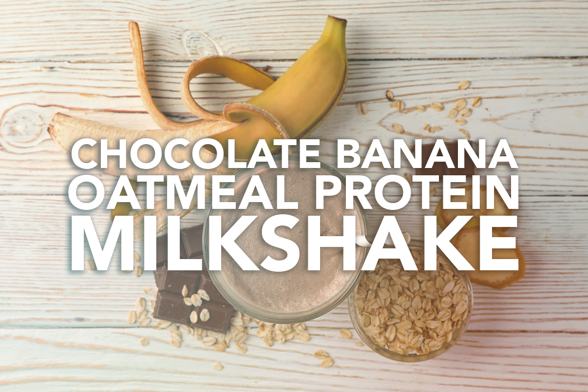 Chocolate Banana Oatmeal Milkshake Recipe