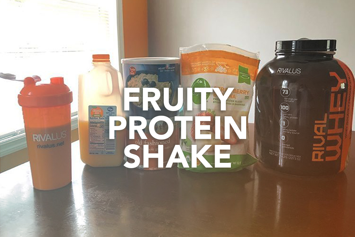 Rivalus At Home Recipes: Fruity Protein Shake
