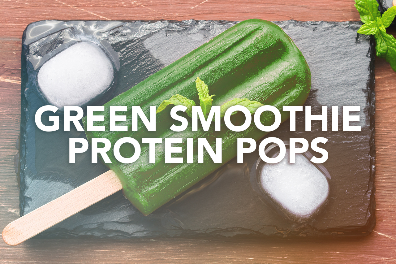 Rivalus At Home Recipes: Green Smoothie Protein Pops