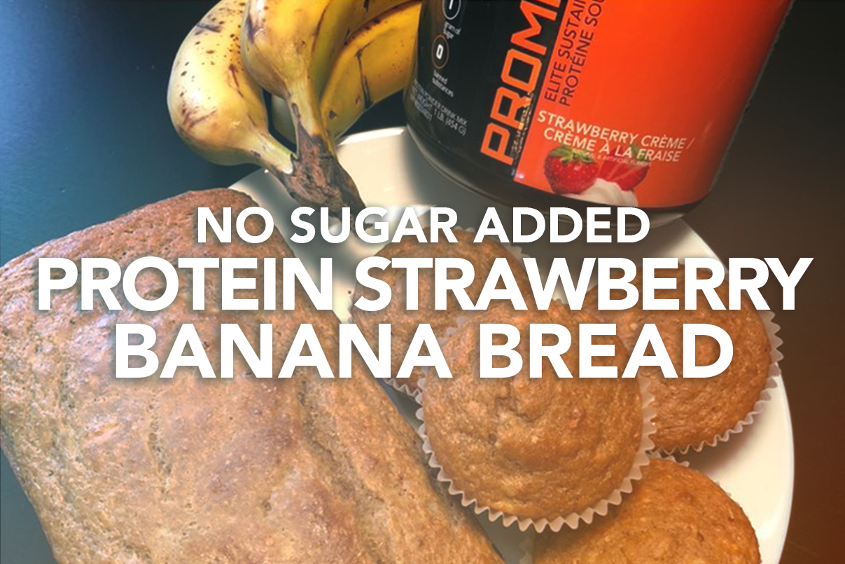 Rivalus At Home Recipes: No Sugar Added Protein Strawberry Banana Bread