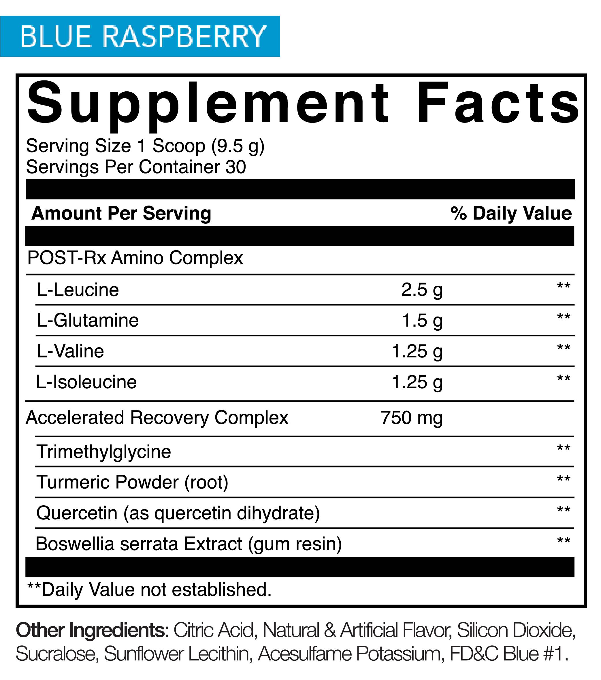 Blue Raspberry Nutrition
