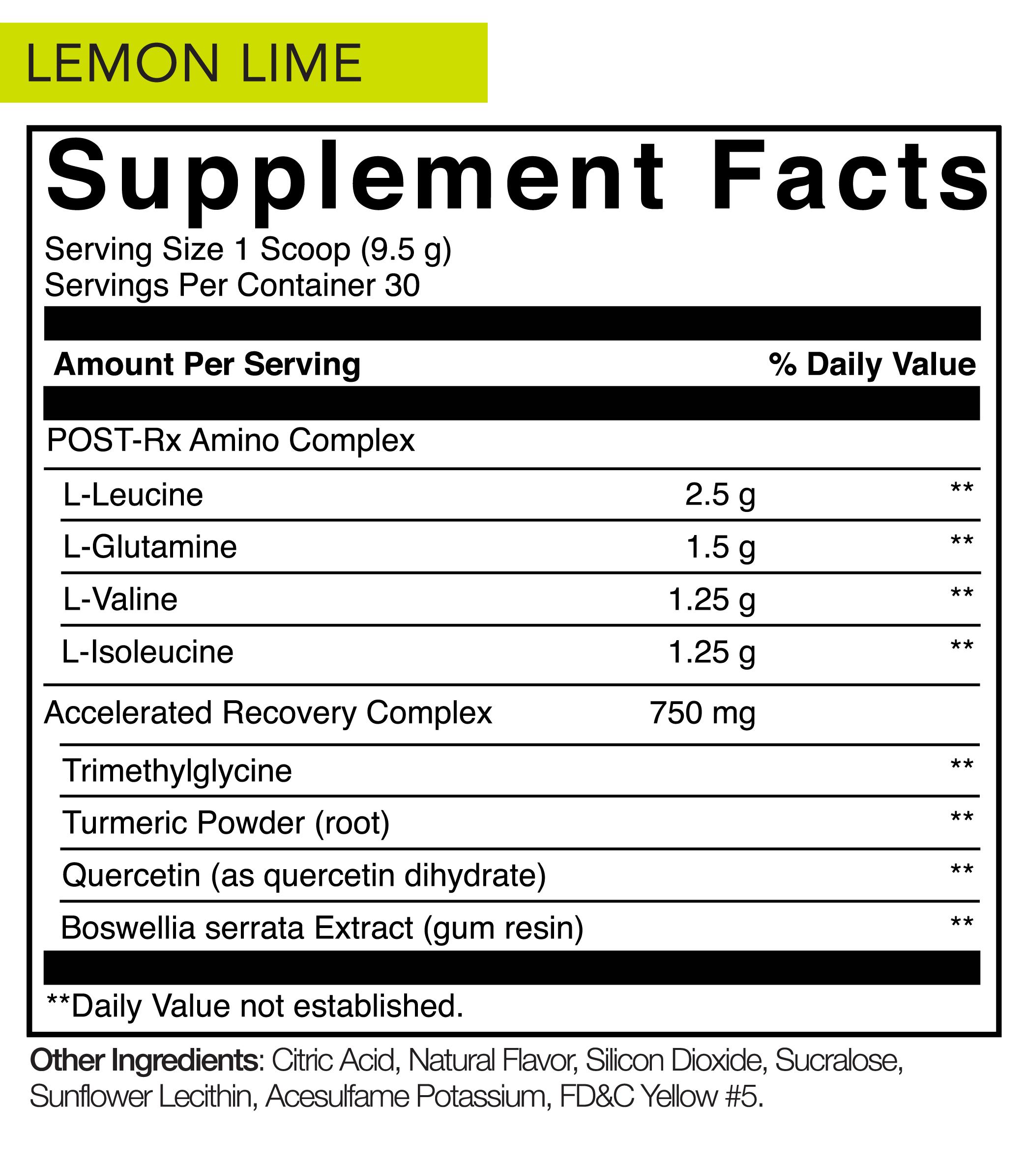 Lemon Lime Nutrition