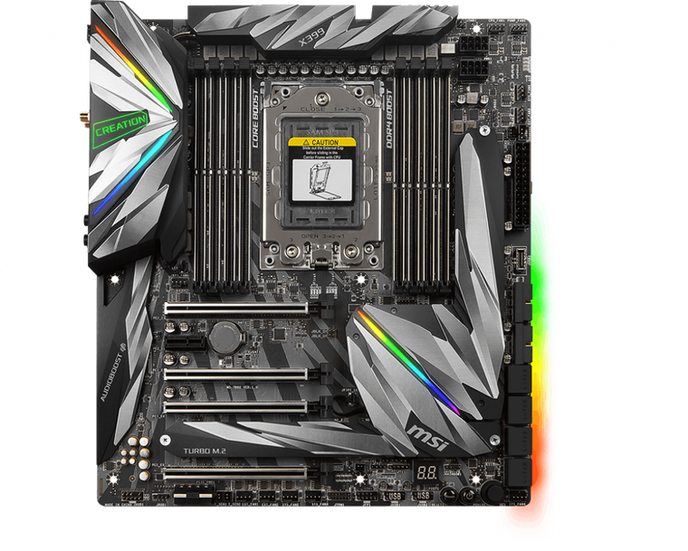 MSI MEG X399 CREATION AMD Socket X399 TR4 Extended ATX M.2 Desktop Motherboard B Reconditioned