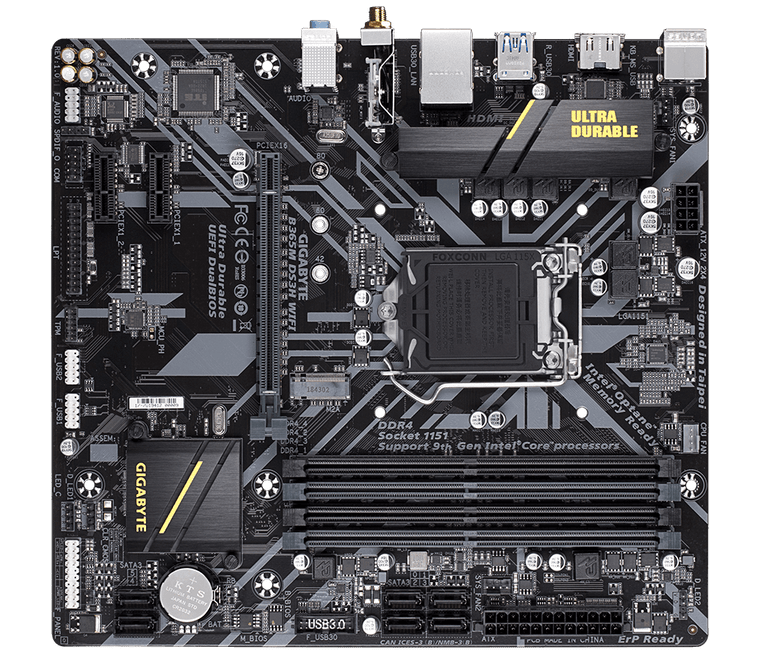 Gigabyte B365M DS3H WIFI Intel B365 1151 LGA MicroATX M.2 Desktop Motherboard A Reconditioned