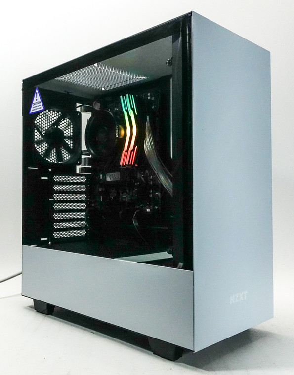 Custom RGB Gaming PC Computer Ryzen 3 3200G 16GB 512GB NVME M.2 SSD AMD Vega 8 NZXT H510 White Reconditioned