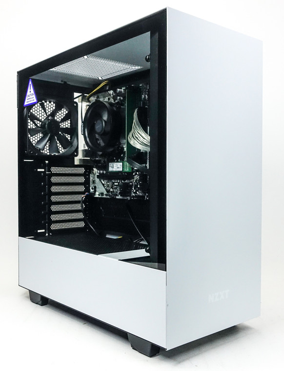 Custom Gaming PC Computer Ryzen 3 2200G 8GB 128GB NVME M.2 1 TB HDD AMD Vega 8 NZXT H510 White Reconditioned