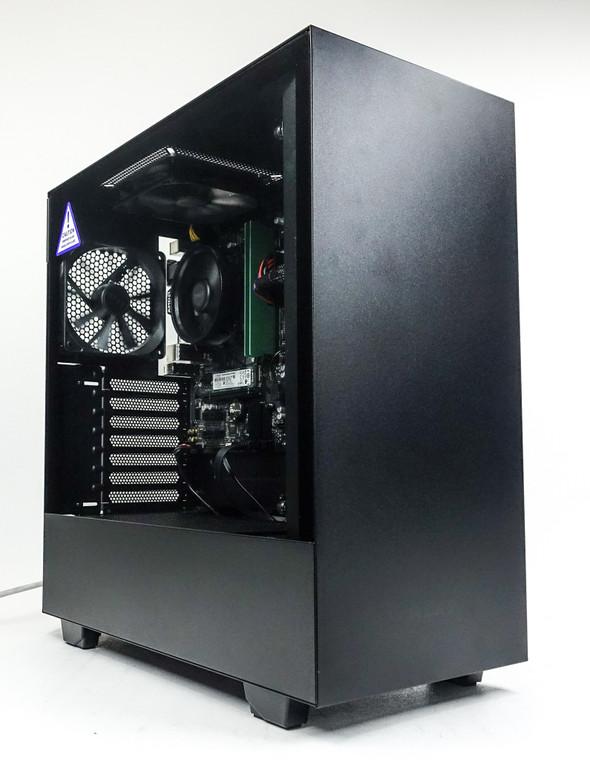 Custom Gaming PC Computer Ryzen 5 2400G 8 GB 128GB NVME M.2 1 TB HDD Vega 8 APU NZXT H510 Black Reconditioned