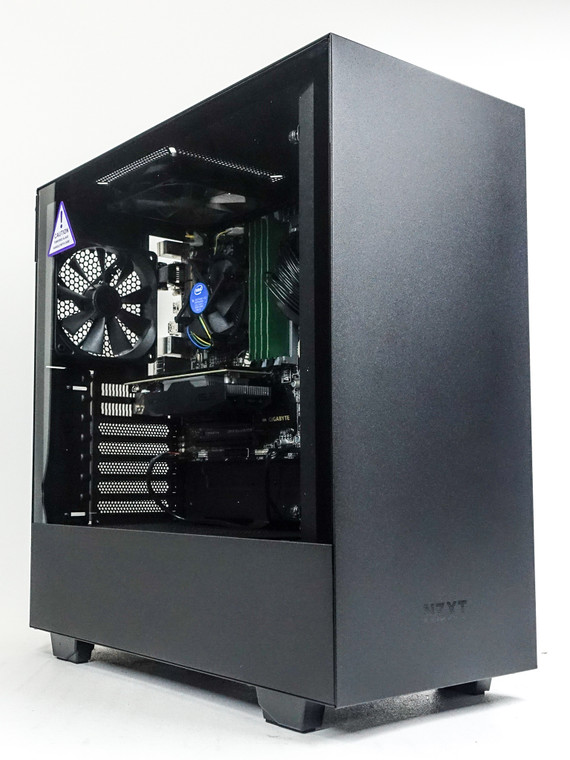 "Custom Gaming PC Computer i5-4460 3.2 GHz 8 GB RAM 256GB 2.5"" SSD GTX 1050Ti 4GB NZXT H510 Black Reconditioned"