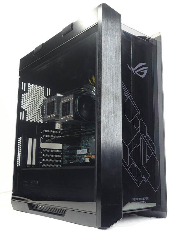 Custom Server PC Computer Dual Xeon Gold 5120 3.6 GHz 128GB 240GB M.2 ASUS Helios Black Reconditioned