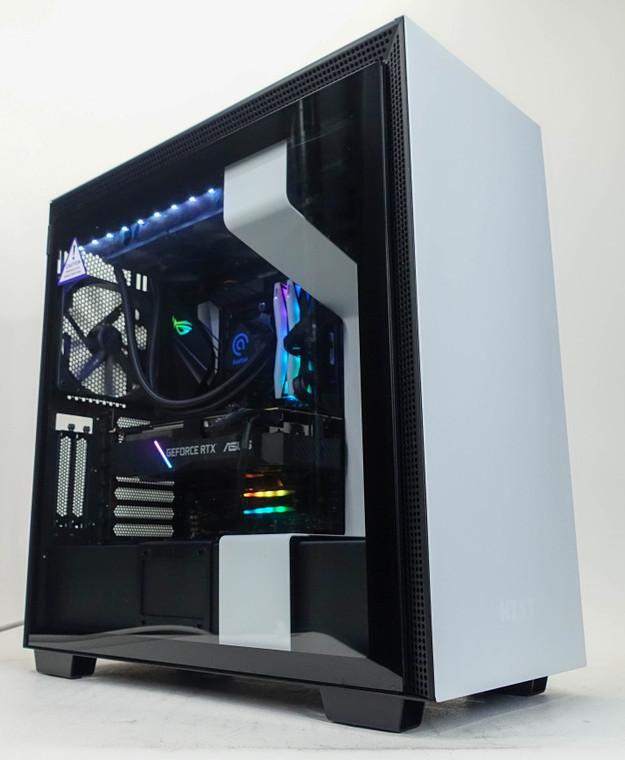 Custom RGB Gaming PC Computer Ryzen 9 3900X 16GB 1TB NVME M.2 RTX 2070 Super 8GB NZXT H710i White Reconditioned