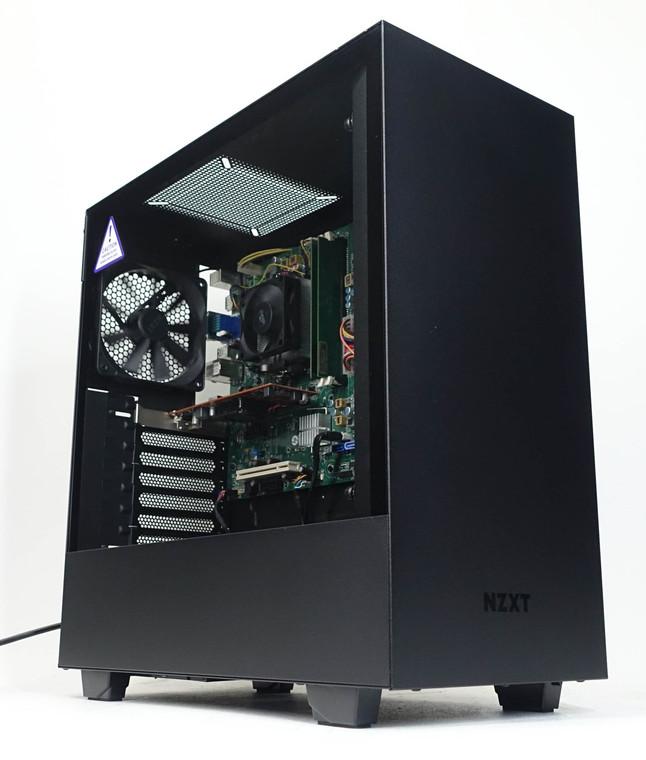"Custom Gaming PC Computer Athlon X4 750k 3.4GHz 8GB 256GB 2.5"" Radeon HD7450 1GB NZXT H510 Black Reconditioned"