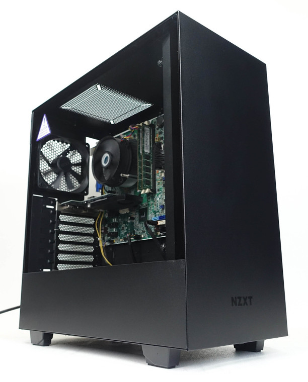 """Custom Gaming PC Computer i5-2400 3.1 GHz 8 GB RAM 256GB 2.5"""" SSD GT 640 4GB NZXT H510 Reconditioned"""