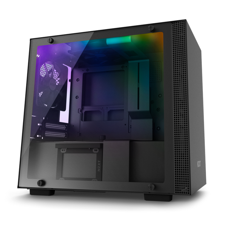 NZXT H200i Black RGB Mini-ITX Mini Tower Case Tempered Glass Desktop Computer Case Reconditioned
