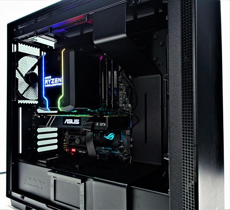 Custom Gaming PC Computer Threadripper 1920x 3.5GHz 32GB 512GB SSD 4TB HDD GTX 1080Ti 11GB Reconditioned
