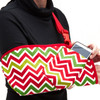 """Our LIMITED EDITION Christmas Chevron will change the conversation from, """"What happened to you?"""" to """"How cute is that?!"""" Shown with optional Classic Red trim and cell phone option.  Hurry while supplies last!"""
