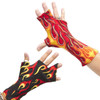Gutter ulnar cast? Say no more. The Gutterz! on the left is a Gutterz! 3-4 (ring and pinky fingers) in Flames on Black and on the right is a Gutter 1-2 (index and middle fingers) in Flames on Red.