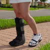 Prevent and eliminate pain caused by the unbalanced stride caused by orthopedic walking boots and shoes.