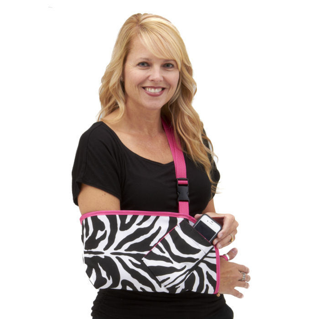 a3bc8fa41b00 Zebra in very popular Berry Pink Trim and Cell Phone pocket options.