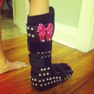 Fun Ideas To Decorate Your Cast Walking Boot And Crutches