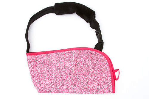 Seeing Spots Pink with OPTIONAL Berry Pink Trim, OPTIONAL Comfort Strap, and OPTIONAL Pocket.