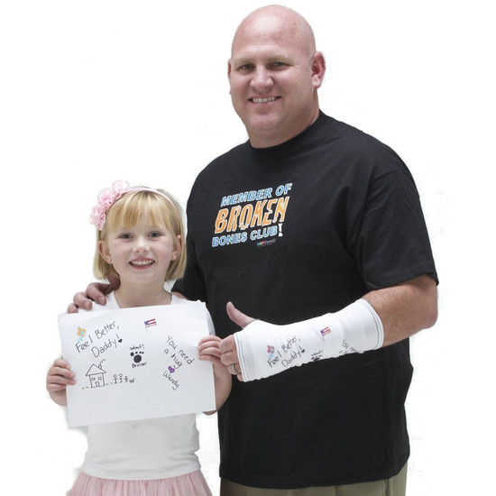 """Create a """"get well"""" card for your cast.  Personalize it with your own artwork!"""