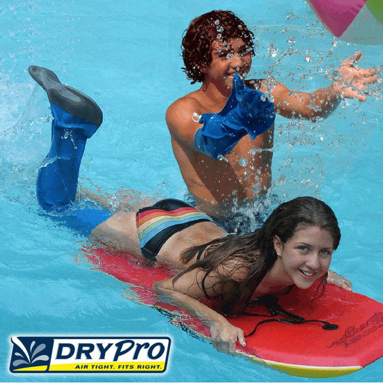 Enjoy the beach, pool, or lake this summer even if you have a cast with DryPro!  DryPro offers waterproof protection for your cast.