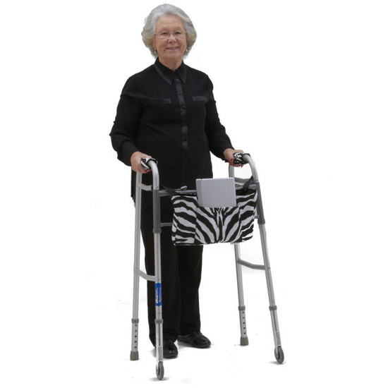 Joan is sporting our Zebra WalkerWear bag.