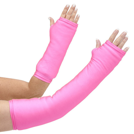 This isn't princess pink!  Be bold in our long and short arm cast cover in neon pink.