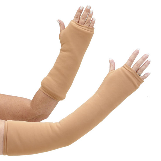 Available in long and short styles, if you want a deeper tone, Nude Medium is a great choice for your arm cast cover.