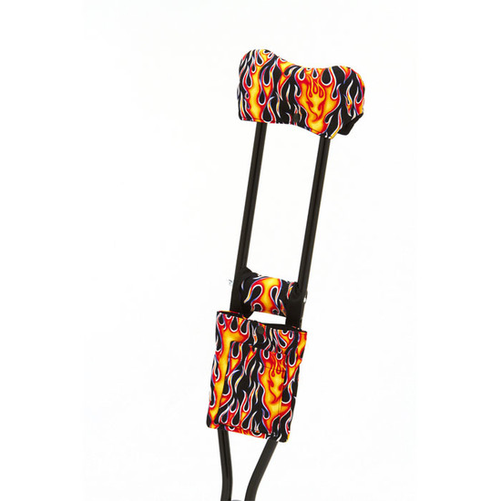 Standard Print Crutchwear - Flames on Black