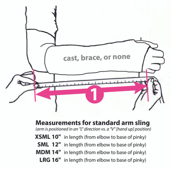 246f65dd1615ca Over 80 · Sizing Chart for Slingz! Please note, if your arm is in a