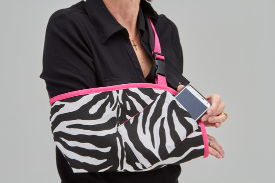 faf9fa97f892 Fashionable and Functional Arm Slings in Zebra Fabric
