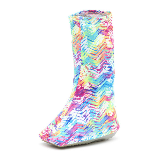 NEON Tracks is a GREAT name! Bright neon colors of blues, rose, pink, yellow, orange, ... track around this Bootz! and is sure to start conversations!