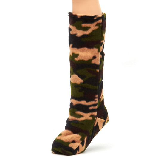 CastCoverz! Sleeperz! for Legs - Camo Green Fleece