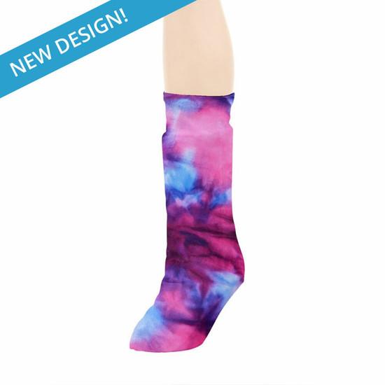 CastCoverz! Legz! - Tie Dye Pink Purple