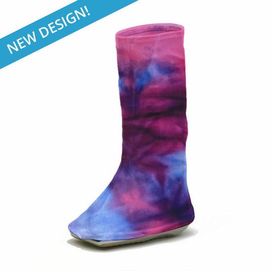 CastCoverz! Bootz! - Tie Dye Pink Purple