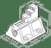 """Pratt Burnerd 8"""" Heavy Duty Boring Mill Jaws 4 Piece Set 1BL0100300"""